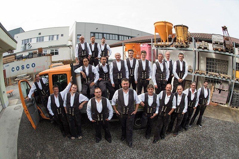 Das Team des Fischbach Bauunternehmen, Wangen im Allgäu