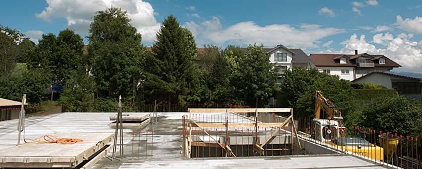 Neubau einer Industriehalle - Ansicht Aufbau Obergeschoss